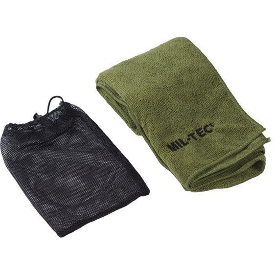 Ręcznik z Mikrofibry Mil-Tec 80cm x 40cm Oliwkowy