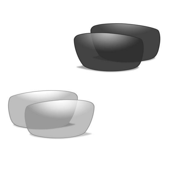 Okulary Taktyczne Wiley X XL-1 Advanced - Smoke + Clear - Czarne