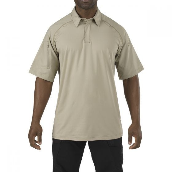 Koszulka Polo 5.11 Rapid Performance Krótki Rękaw Silver Tan