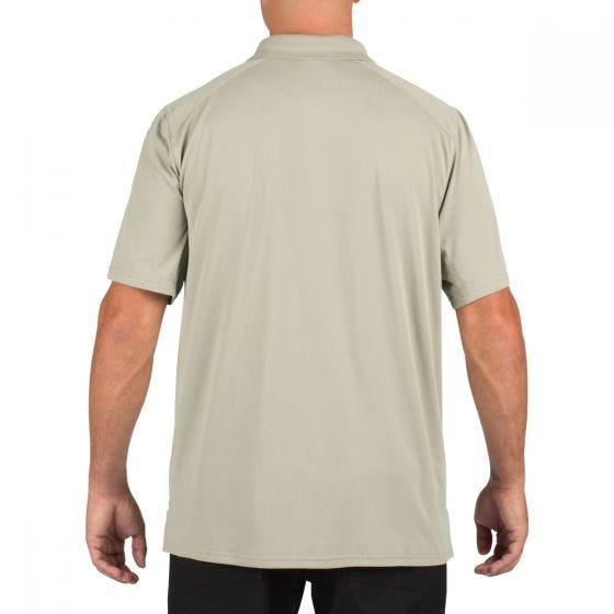 Koszulka Polo 5.11 Helios Krótki Rękaw Silver Tan