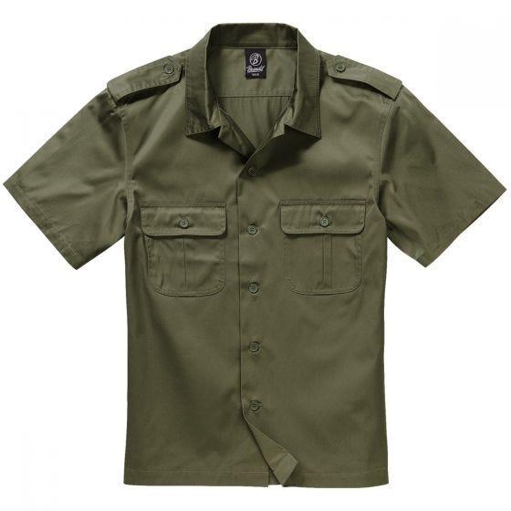 Koszula Brandit US Krótki Rękaw Oliwkowa