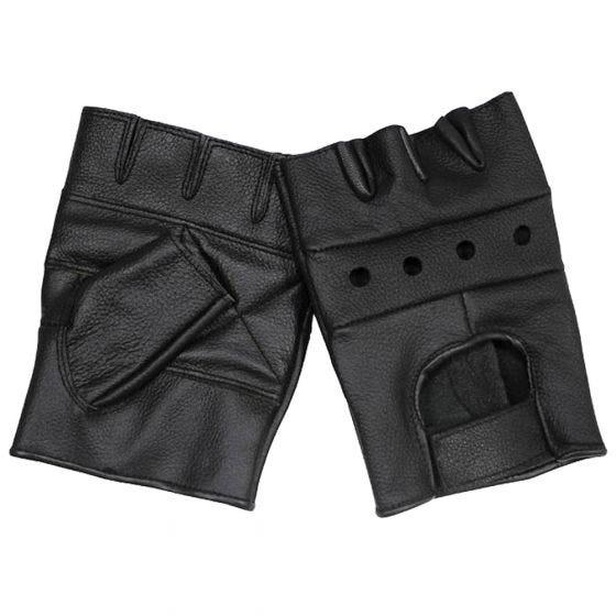 Rękawice Skórzane MFH Deluxe bez Palców Czarne