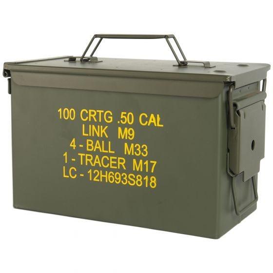 Wojskowa Skrzynka na Amunicję Mil-Tec M2A1 Cal.50 Oliwkowa