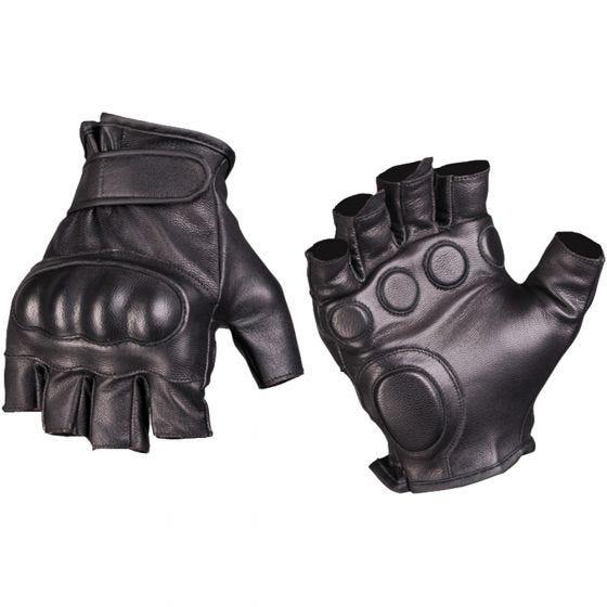 Rękawice Taktyczne Mil-Tec Tactical Skórzane bez Palców Czarne
