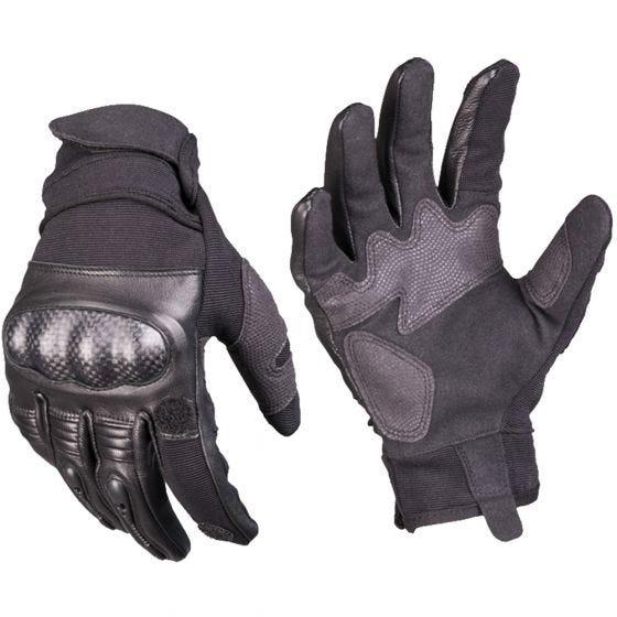 Rękawice Taktyczne Mil-Tec Tactical Skórzane Gen 2 Czarne