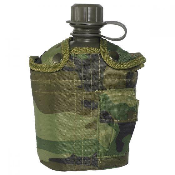 Manierka Mil-Tec z Pokrowcem 1-litrowa Woodland