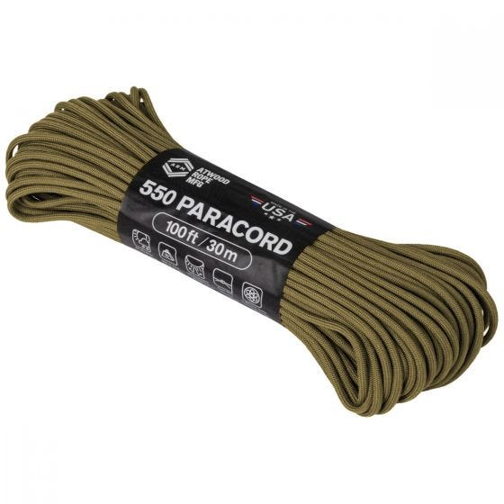 Linka Atwood Rope 100ft 550 Coyote