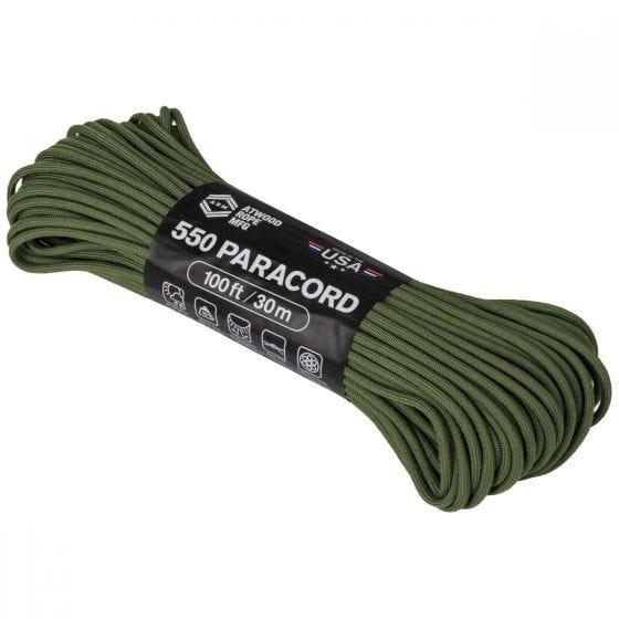 Linka Atwood Rope 100ft 550 Olive Drab