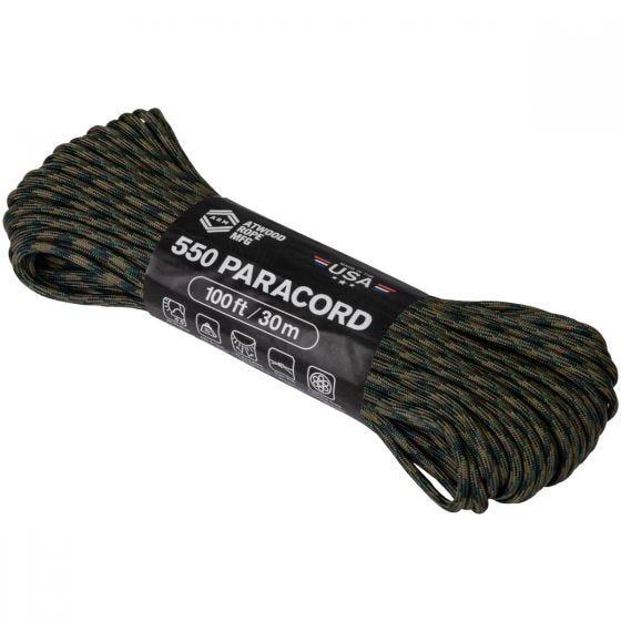 Linka Atwood Rope 100ft 550 Woodland