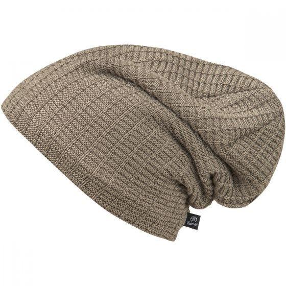 Czapka Brandit Beanie John Ajour Knitted Taupe