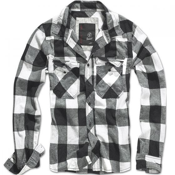 Koszula Brandit Check Biało-Czarna