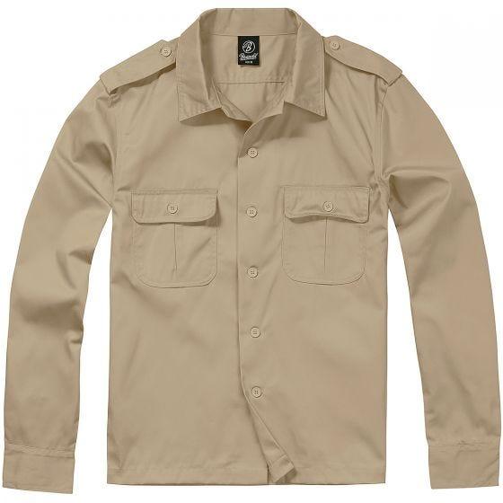Koszula Brandit US Długi Rękaw Beżowa
