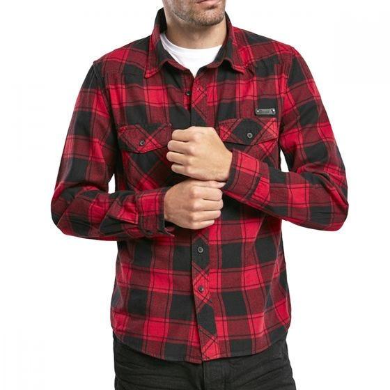 Koszula Brandit Check Czerwono-Czarna