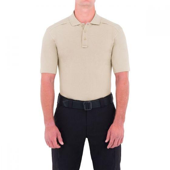 Koszula Męska First Tactical Cotton Polo z Kieszenią na Długopis Krótki Rękaw Khaki
