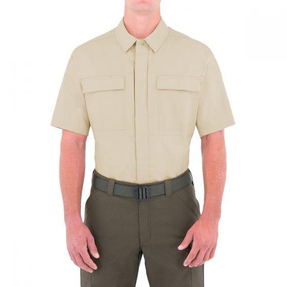 Koszula First Tactical Tactix BDU Krótki Rękaw Khaki