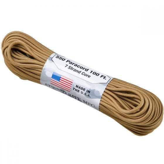 Linka Paracord Atwood Rope 550 Lbs. Coyote