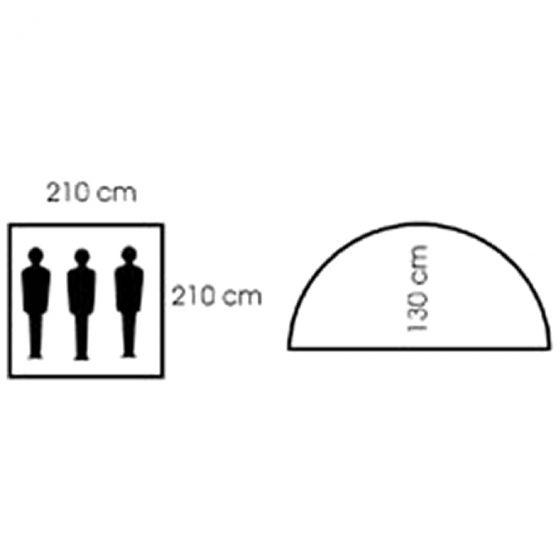 Namiot 3-osobowy MFH Monodom z Moskitierą OD Green
