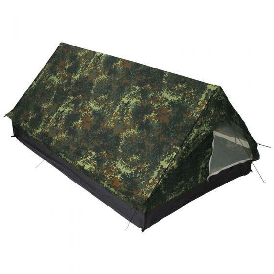 Namiot 2-osobowy MFH Minipack z Moskitierą Flecktarn