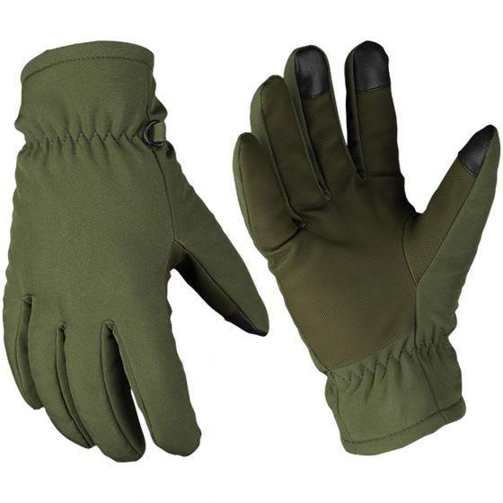 Rękawice Zimowe Mil-Tec Softshell Thinsulate Oliwkowe
