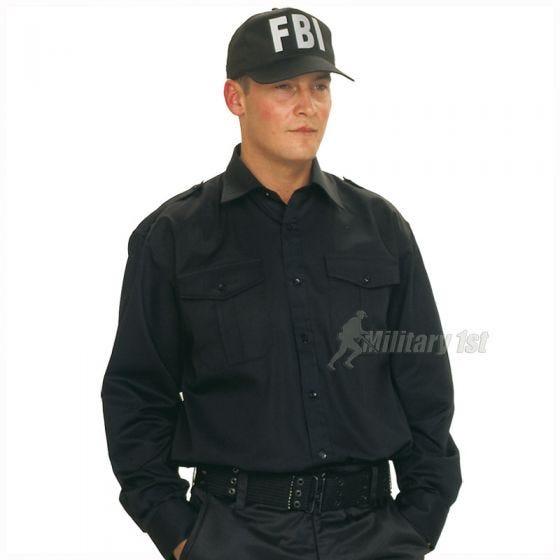 Czapka Bejsbolówka Mil-Tec FBI z Plastikowym Zapięciem Czarna