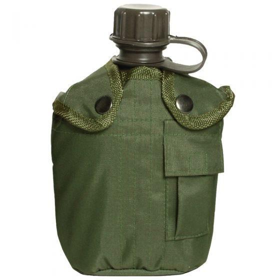 Manierka Mil-Tec z Pokrowcem 1-litrowa Oliwkowa