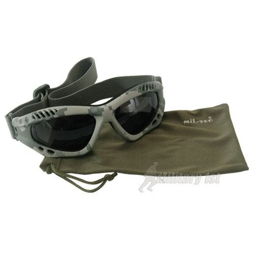 Gogle Ochronne Mil-Tec Commando Air Pro - Smoke - ACU Digital