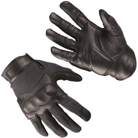 Rękawice Taktyczne Mil-Tec Tactical Skóra / Kevlar Czarne