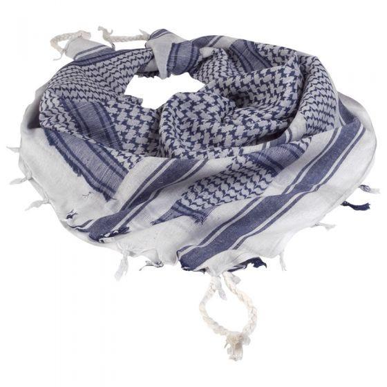 Chusta Arafatka Mil-Tec Shemagh Biało-Niebieska