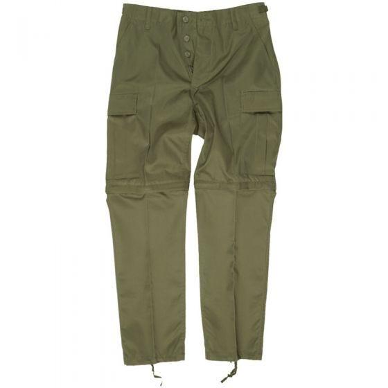 Spodnie 2w1 Mil-Tec Zip-Off Combat Oliwkowe