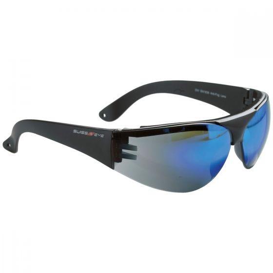 Okulary Taktyczne Swiss Eye Outbreak Protector - Blue Mirror - Czarne