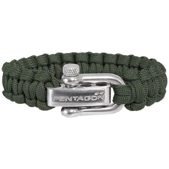 Bransoleta Pentagon Survival Bracelet Camo Green
