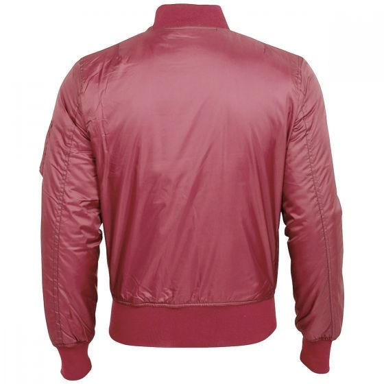 Kurtka Flek Surplus Basic Bomber Bordowa