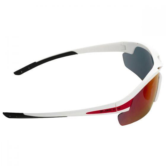 Okulary Taktyczne Swiss Eye Novena - Zestaw 3 Wymiennych Wizjerów - Białe