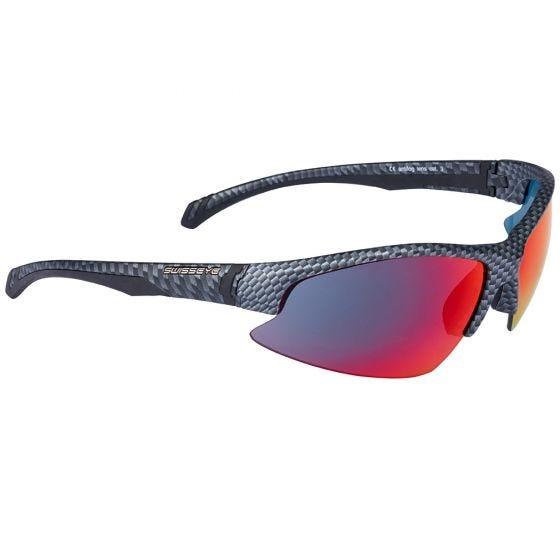 Okulary Taktyczne Swiss Eye Flash - Zestaw 3 Wymiennych Wizjerów - Karbonowe