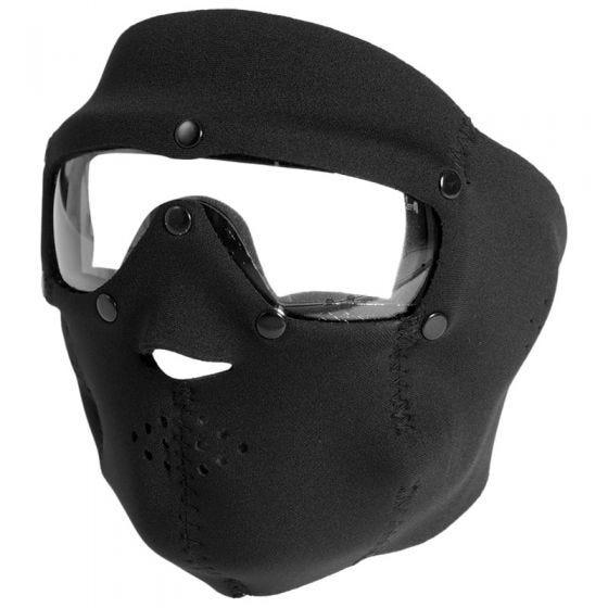 Taktyczna Maska Neoprenowa Swiss Eye z Goglami - Clear - Czarna