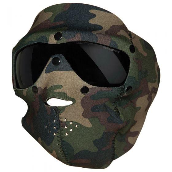 Taktyczna Maska Neoprenowa Swiss Eye z Goglami - Smoke - Woodland