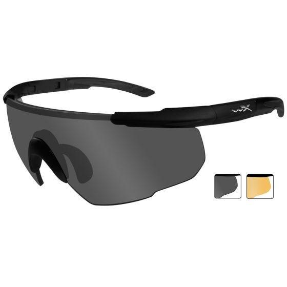 Okulary Taktyczne Wiley X Saber Advanced - Smoke + Orange - Czarne