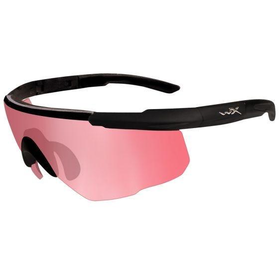 Okulary Taktyczne Wiley X Saber Advanced - Vermillion - Czarne