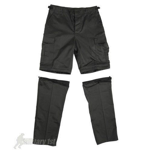 Spodnie 2w1 Mil-Tec Zip-Off Combat Czarne