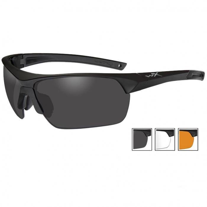 Okulary Taktyczne Wiley X Guard Advanced - Zestaw 3 Wymiennych Wizjerów - Czarne