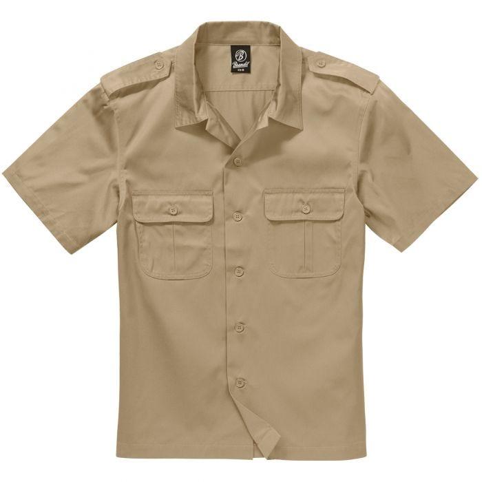 Koszula Brandit US Krótki Rękaw Beżowa