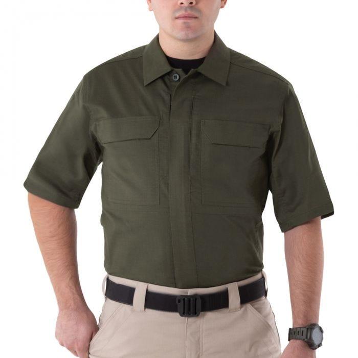 Koszula First Tactical Men's V2 Krótki Rękaw Tactical OD Green