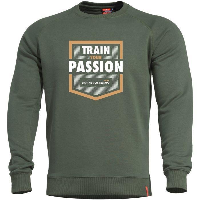 Bluza Pentagon Hawk Sweater Train your Passion Camo Green