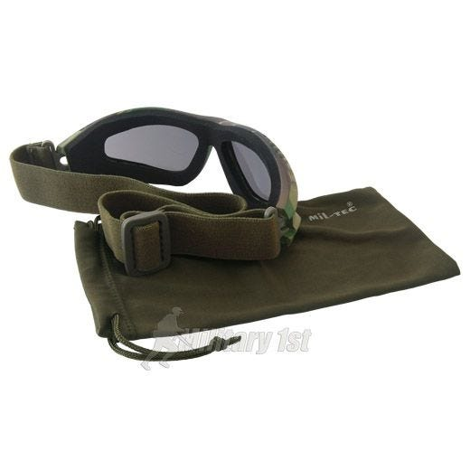 Gogle Ochronne Mil-Tec Commando Air Pro - Smoke - Woodland
