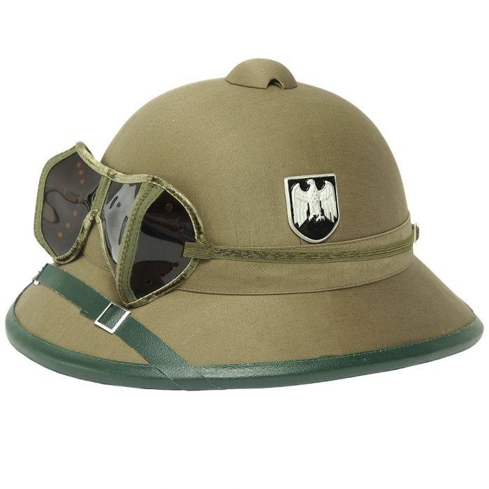 Hełm Mil-Tec Wehrmacht Tropical z Goglami