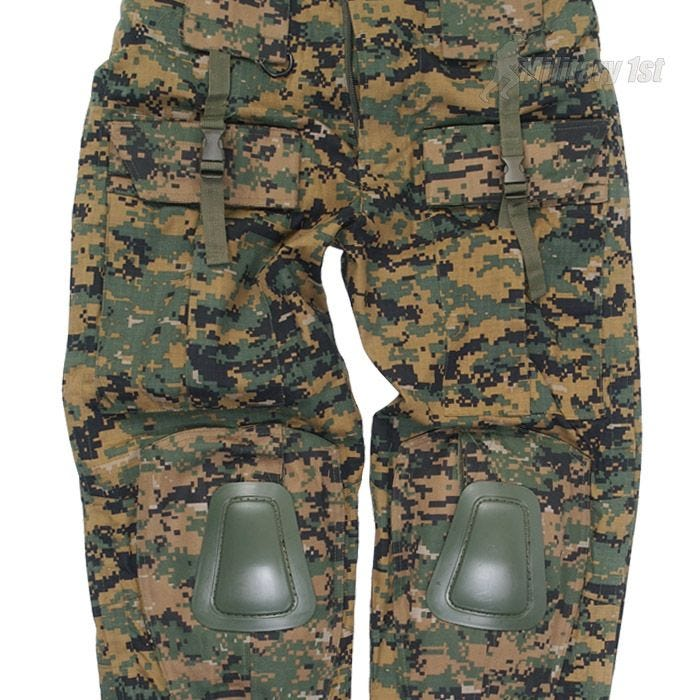 Spodnie Mil-Tec Warrior z Nakolannikami Digital Woodland