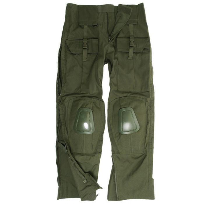 Spodnie Mil-Tec Warrior z Nakolannikami Oliwkowe