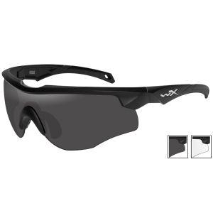 Okulary Taktyczne Wiley X WX Rogue - Smoke - Clear - Czarne