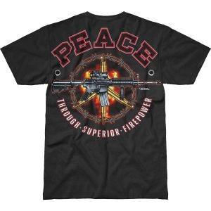 Koszulka T-shirt 7.62 Design Peace Through Superior Firepower Battlespace Czarna