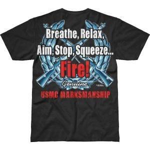 Koszulka T-shirt 7.62 Design USMC Marksmanship Battlespace Czarna